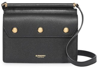 Burberry Mini Title Leather Crossbody Bag