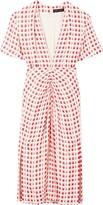 Proenza Schouler checked shortsleeved dress