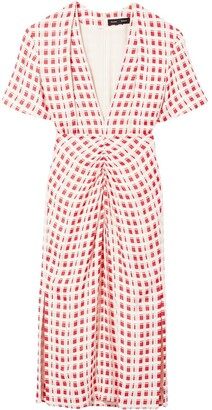 Proenza Schouler Checked Shortsleeved Dress