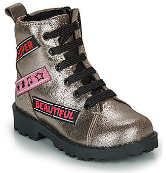 Citrouille et Compagnie LOUME girls's Mid Boots in Silver