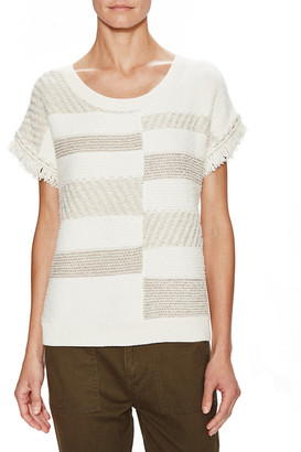 Ella Moss Colorblocked Knit Top