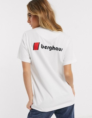 Berghaus Heritage Front and Back Logo t-shirt in white