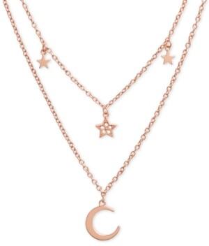 "Olivia Burton Celestial Charm 16"" Two-Row Pendant Necklace"