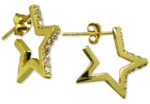 Giani Bernini Cubic Zirconia Star Huggie Hoop Earrings, Created for Macy's