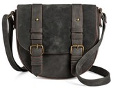 T-Shirt & Jeans Women's Small Two Tone Saddle Handbag with Buckles