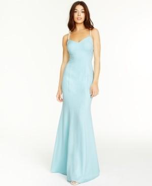 Betsey Johnson Beaded-Strap Mermaid Gown