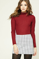 Forever 21 FOREVER 21+ Ribbed Mock Neck Top