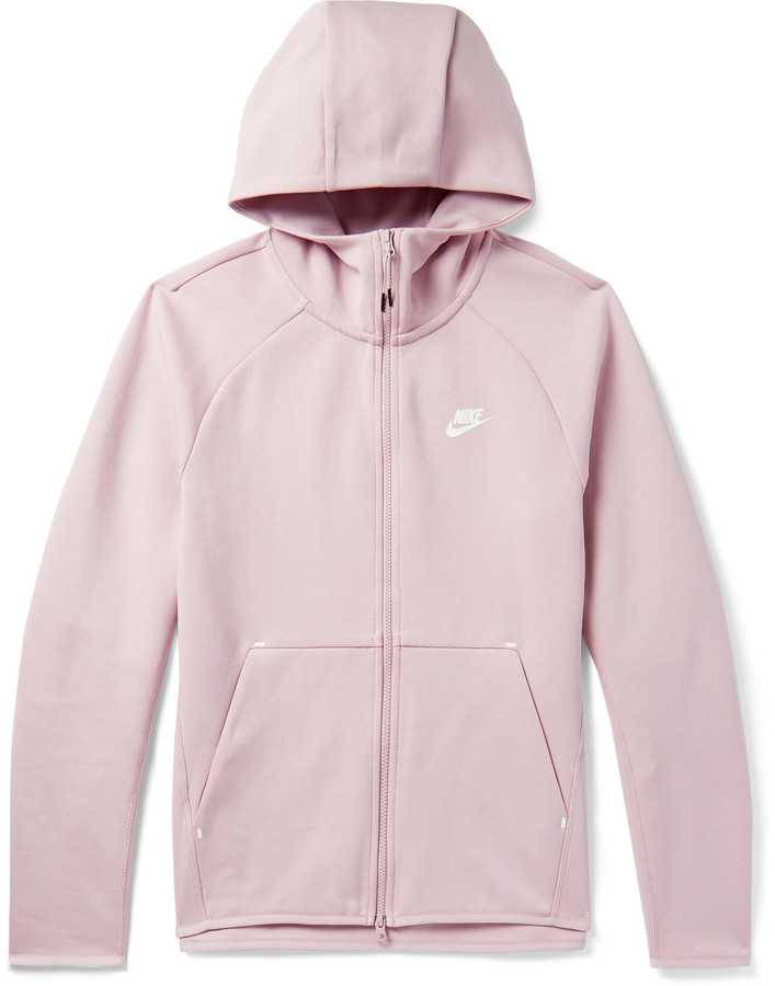 Nike Sportswear Cotton-Blend Tech-Fleece Zip-Up Hoodie - Men - Purple