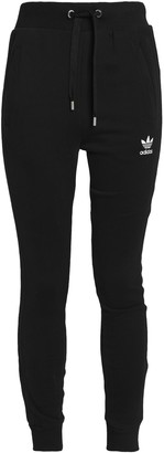 adidas Embroidered Stretch-cotton Track Pants