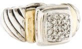 David Yurman Two-Tone Diamond Ring
