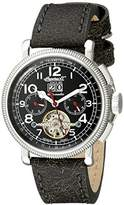 Ingersoll Unisex Automatic Watch with Black Dial Analogue Display and Brown Leather Strap IN1827BKWH