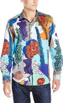 Robert Graham Men's Wildflowers Long Sleeve Button Down Shirt, Multi