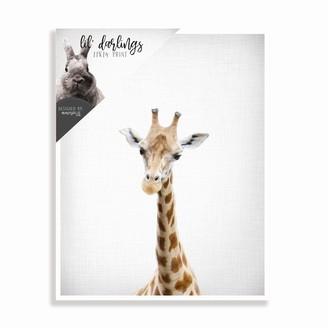mavisBLUE Baby Giraffe Print