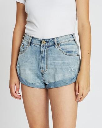 One Teaspoon Bandits Mid Rise Denim Shorts