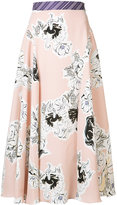Roksanda floral pleated skirt - women - Silk - 8