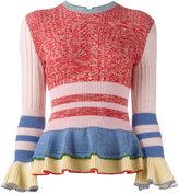 Alexander McQueen peplum jumper - women - Silk/Polyamide/Spandex/Elastane/Wool - S