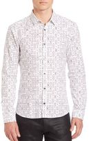 HUGO BOSS Card Graphic Slim-Fit Shirt