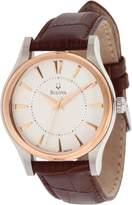 Bulova Men's 98A119 Dress Leather strap Watch