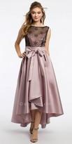 Camille La Vie Satin Sequin High Low Prom Dress