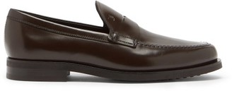 Tod's Logo-debossed Leather Penny Loafers - Brown