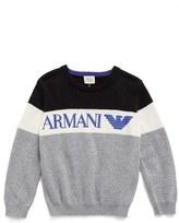 Armani Junior Crewneck Cotton & Wool Sweater (Little Boys & Big Boys)