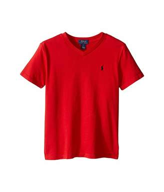 Polo Ralph Lauren 20/1's Jersey V-Neck Tee (Little Kids/Big Kids)