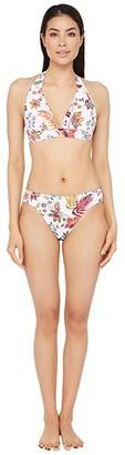 Lauren Ralph Lauren Jacobean Floral Banded Halter Bra Bikini Swimsuit Top (Multi) Women's Swimwear