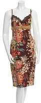 Dolce & Gabbana Embellished Patterned Dress