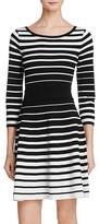 Milly Degrade Stripe Flare Dress