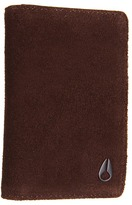 Nixon Suzuka Card Wallet (Brown Suede) - Bags and Luggage