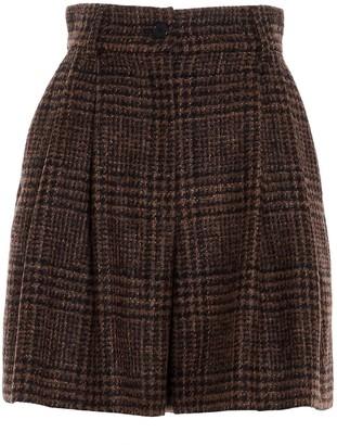 Dolce & Gabbana Tartan Tweed Shorts