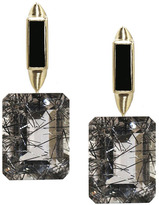 "Joan Hornig Zelda"" Tourmalated Quartz Drop Earrings"