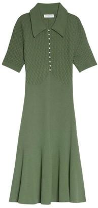 Sandro Paris Knitted Polo Dress