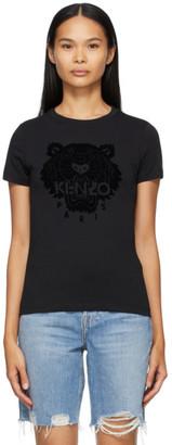 Kenzo Black Tiger Flock T-Shirt