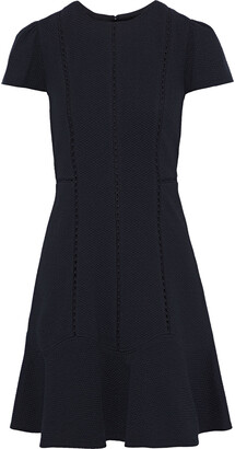 Rebecca Taylor Crochet-trimmed Matelasse Mini Dress