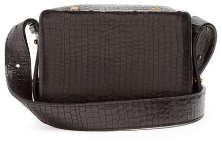 Lutz Morris - Maya Small Crocodile Effect Leather Cross Body Bag - Womens - Black