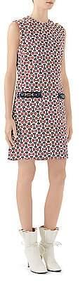 Gucci Women's Printed Sleeveless Canvas Shift Dress