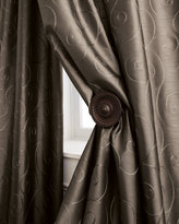 "Horchow Each 55""W x 96""L Valencia Scroll Curtain"