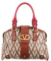 Valentino Canvas & Leather Bag