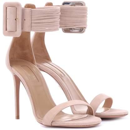 Aquazzura Casablanca 105 suede sandals