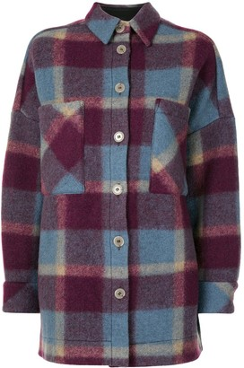 IRO Long-Sleeved Check Print Jacket
