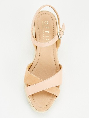 Office Motivate Wedge Sandals - Nude Leather