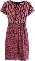 See by Chloe Knit-print silk dress