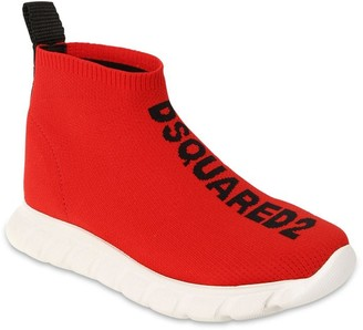 DSQUARED2 Slip-on Knit Sock Sneakers