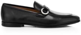 Salvatore Ferragamo Side Buckle Leather Loafers
