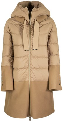 Herno Long Down Jacket With Coat Underneath