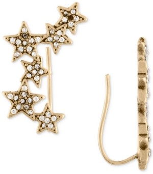 Rachel Roy Gold-Tone Pave Stars Crawler Earrings