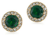 Lauren Ralph Lauren Treasure Trove Green Crystal and 12K Goldplated Stud Pierced Earrings