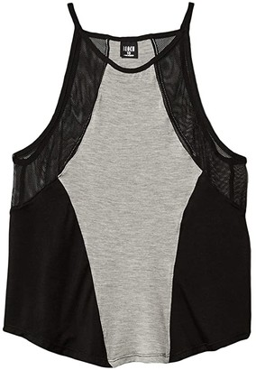 Bloch Mesh Detail Camisole Top (Little Kids/Big Kids) (Grey) Girl's Clothing