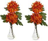 Bed Bath & Beyond Nearly Natural Mum w/ Bud Vase Silk Flower Arrangement (Set of 2)